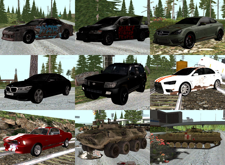 vehicles cars top gta version 1.6